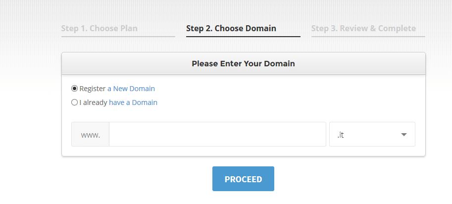 registrazione dominio creare un sito web